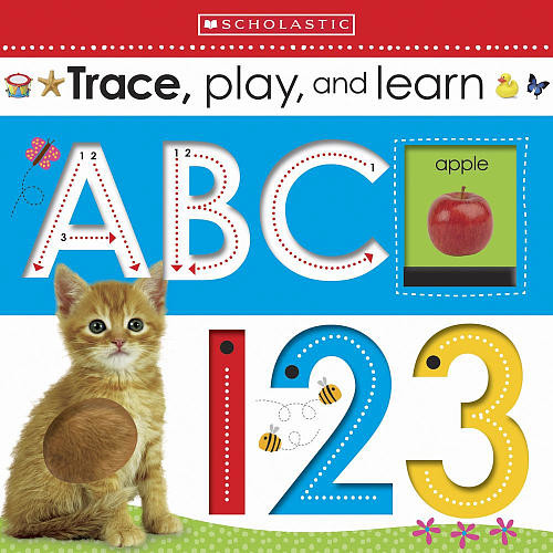 Scholastic Early Learners Book - Trace Play and Learn ABC, 123
