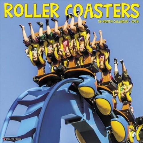 Roller Coasters 2018 Calendar (Paperback)