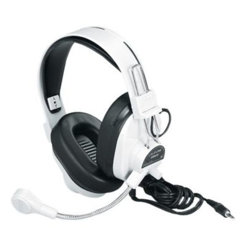 Califone International Deluxe Multimedia Stereo Headphones With Boom Microphone (CAFI096)