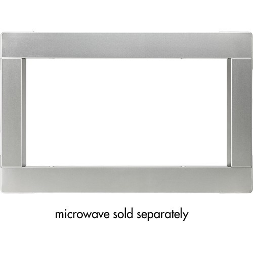 LG - Trim Kit for Select LG Microwave Ovens - Stainless-Steel