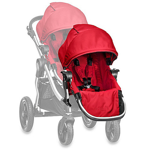 Baby Jogger City Select Silver Frame Second Seat Kit in Ruby