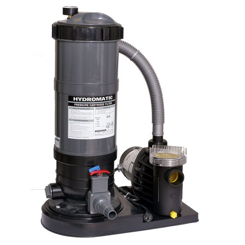 Blue Wave Hydro 120 sq. ft. Cartridge Pool Filter System with 1.5 HP Pump for Above Ground Pools