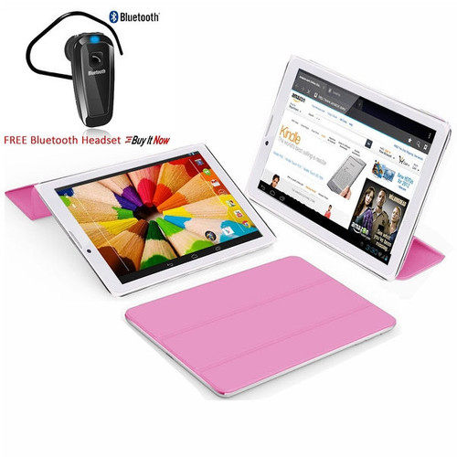 Indigi 7.0inch Unlocked 2-in-1 Android 4.4 Smartphone + TabletPC w/ Built-in Smart Cover (Pink)+ Bluetooth Included - Pink