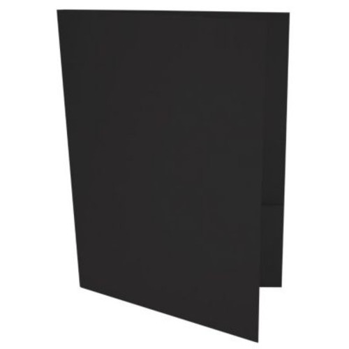 LUX Paper 9 x 12 Presentation Folders - Midnight Black