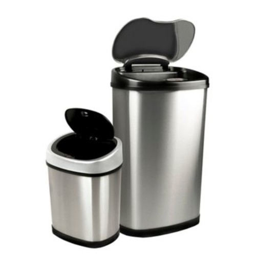 Nine Stars 13.2gal/3.2gal Motion Sensor Trash Can Combo (DZT-50-13/12-9)