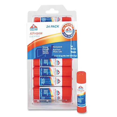 Elmers/X-Acto EPIE553 Disappearing Glue Stick, 0.21 oz, 24/Pack