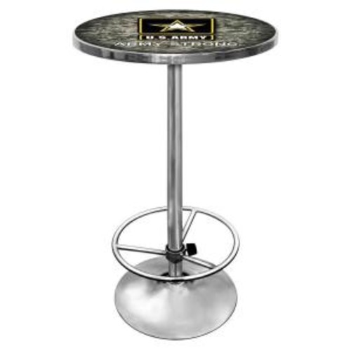Trademark U.S. Army Chrome Pub/Bar Table