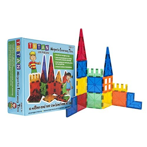 Tytan Magnetic Learning Tiles Building Set (100-Piece)