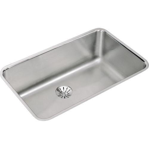 Elkay Gourmet (Lustertone) Stainless Steel Single Bowl Undermount Sink Kit - Silver