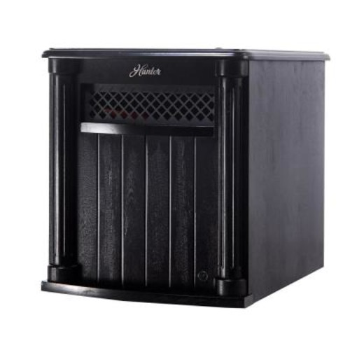 Hunter 1500-Watt 6-Quartz Element Infrared Electric Wood Cabinet Heater with Remote Control