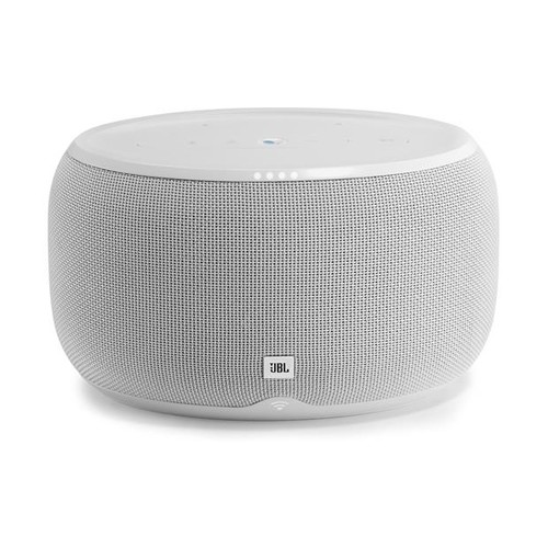 JBL LINK 300 (White) Wireless powered multi-room speaker with Google Assistant, Chromecast built-in, and Bluetooth