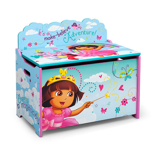 Nick Jr. Dora the Explorer Deluxe Toy Box - Blue/Pink