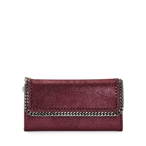 STELLA MCCARTNEY Falabella Shiny Dotted Continental Flap Wallet