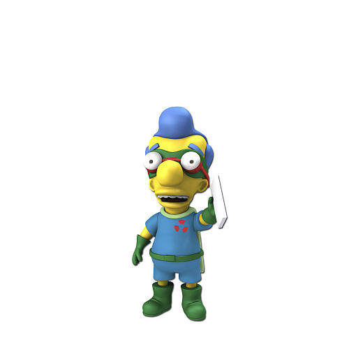 Simpsons 25th Anniversary - 5 Inch Figure - Series 5 Milhouse Van Houten (as Fallout Boy)