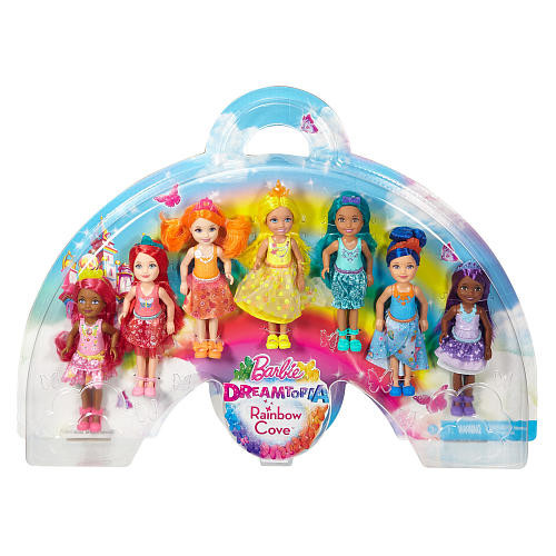 Barbie Dreamtopia Rainbow Cove Doll Gift Set - 7 Pack
