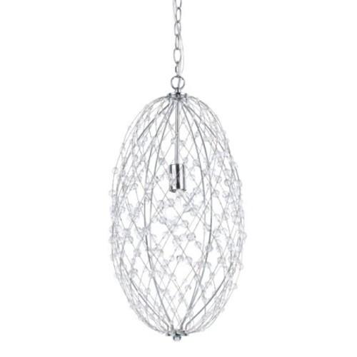 AF Lighting 8287-1H Tear Drop Silver Web Pendant