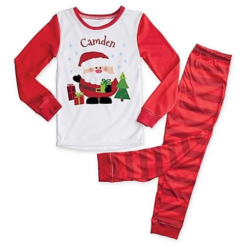 Santa Size 2T 2-Piece Pajama Set in Red