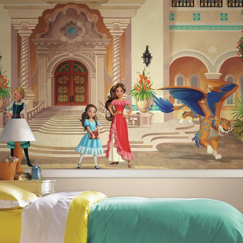 RoomMates 72 in. x 126 in. Disney Princess Elena of Avalor XL Chair Rail 7-Panel Prepasted Mural