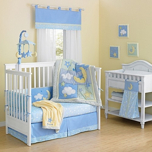 Country Home Laugh, Giggle & Smile Wish I May 10-Piece Crib Bedding Set