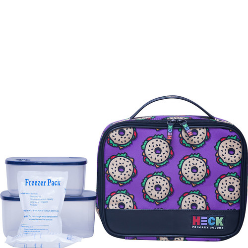 Ed Heck Luggage Everything Bagel Flat Lunch Tote