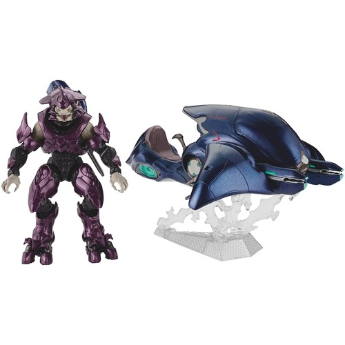 Halo Collector's Series 6 inch Action Figure - Ghost with Elite Officer