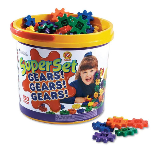 Learning Resources Building Blocks & Sets Gears Super Set 150 Pieces