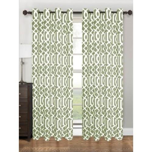 Kashi Home Tori Single Curtain Panel; Sage