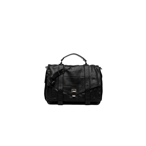 Proenza Schouler Large PS1 Leather in Black