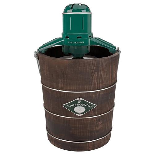 White Mountain PBWMIME412-SHP Appalachian Series Wooden Bucket 4-Quart Electric Ice Cream Maker [4-Quart]