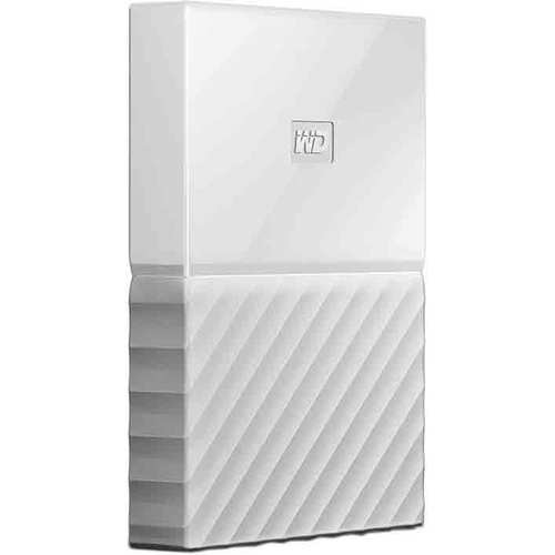 Western Digital WD 2TB My Passport Portable Hard Drive - White
