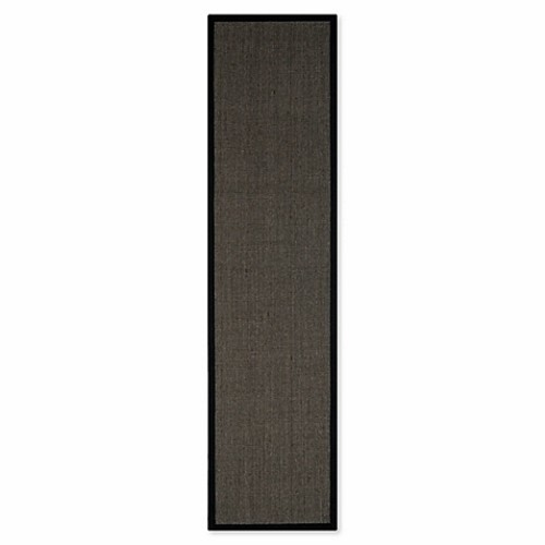 Safavieh Natural Fiber Madeline 2-Foot x 14-Foot Runner in Charcoal/Charcoal
