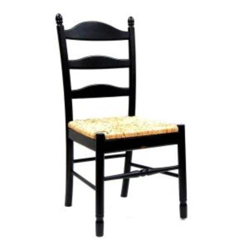 Carolina Cottage Vera Antique Black Wood Dining Chair
