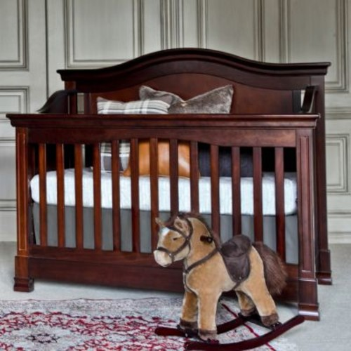 Million Dollar Baby Classic Louis 4-in-1 Convertible Crib with Toddler Bed Conversion Kit, Espresso [Espresso, Crib]