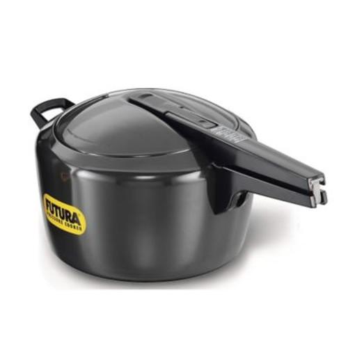 Futura Hard Anodized Pressure Cooker; 7.4 Quart