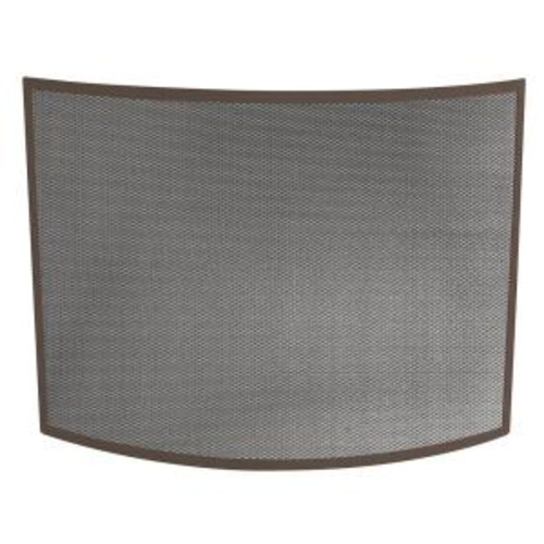 UniFlame Curved Bronze Single-Panel Fireplace Screen