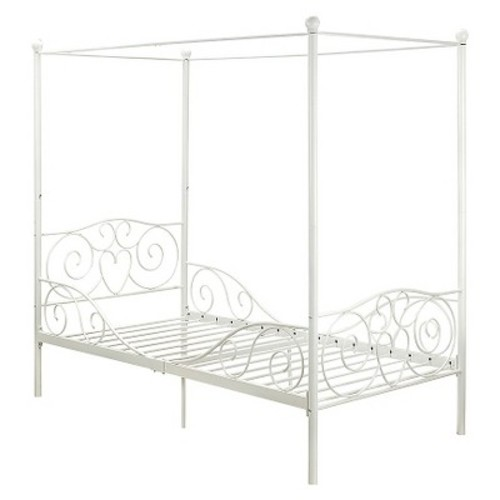 Canopy Metal Bed - Twin - White - Dorel Home Products
