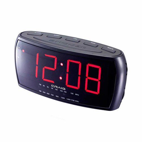 Craig Electronics CR41803 1.8-Inch Dual Alarm Clock Digital PLL AM/FM Radio