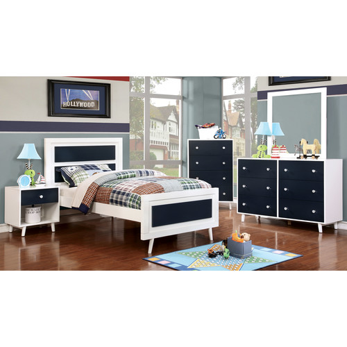 Furniture of America Caprica Contemporary Two-Toned Youth Nightstand