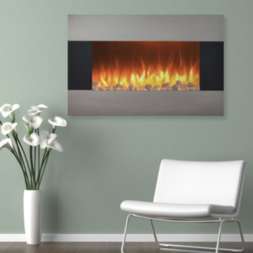 Northwest 36 inch Fireplace Color Changing Wall Mount Floor Stand