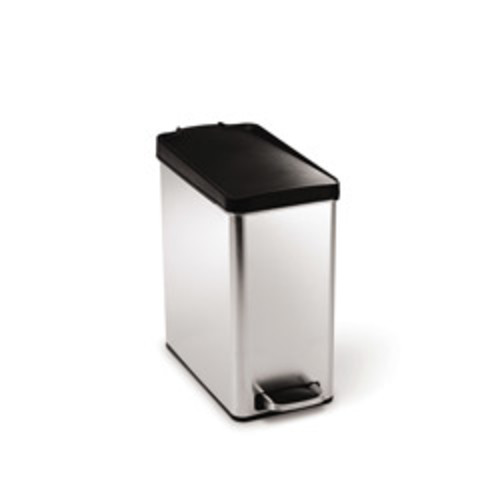 TRS-01159 Two-tone Steel Round Step Trash Can - 5L 2-Tone stainless round step trash can