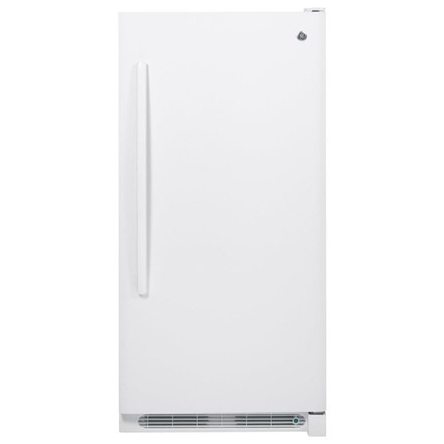 GE - 13.8 Cu. Ft. Frost-Free Upright Freezer - White