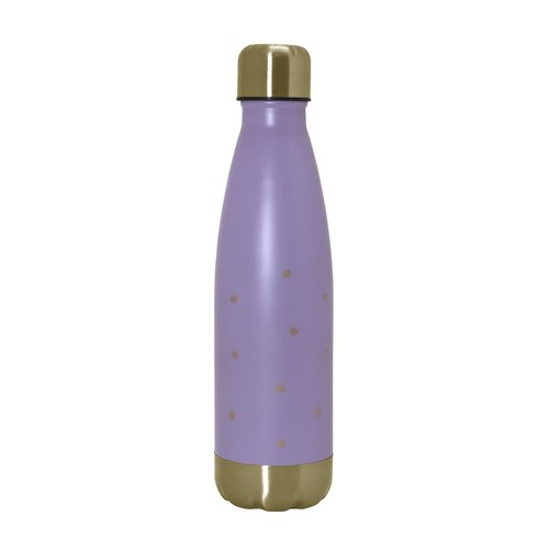 Wellness Double Wall Stainless Steel 17-oz. Purple Water Bottle