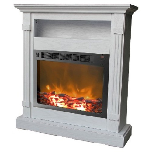 Cambridge - Sienna Electric Fireplace - White