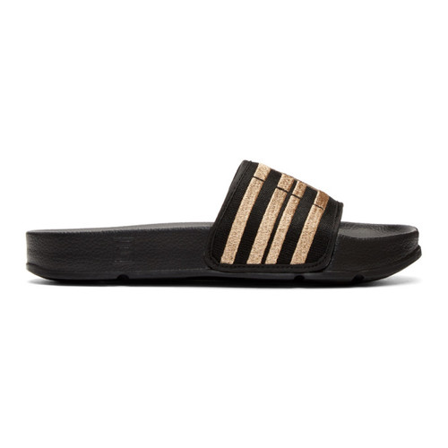 Black & Gold Fila Edition Drifter Slides