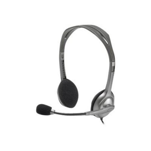 Logitech H111 Over-the-Head Stereo Headset, Black