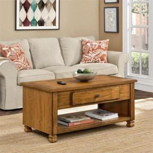 Ameriwood Home Altra San Antonio Wood Veneer Coffee Table in Tuscany Oak