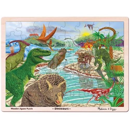 Melissa & Doug Dinosaur Wooden Jigsaw Puzzle with Storage Tray (48 pcs)