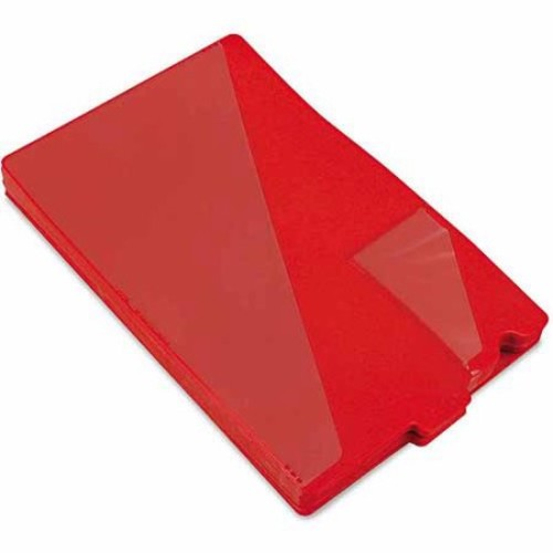 Smead Out Guides with Diagonal-Cut Pockets, Poly, Legal, Red, 50/Box [1-Pack]