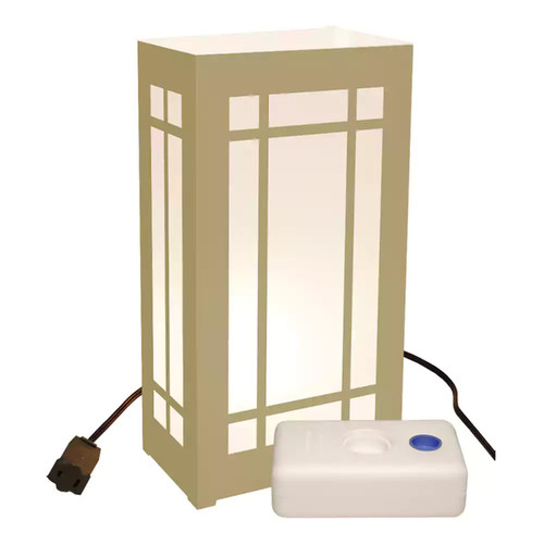 LumaBase 61610 10 Count Gold Lantern Electric Luminaria Kit with LumaBases