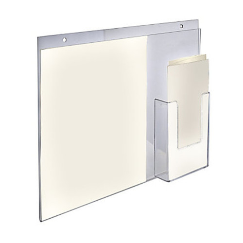 Azar Displays Acrylic Wall-Mount Sign Holders With Trifold Pocket, 13